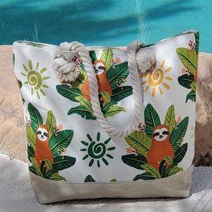 🌴 NEW Tropical Sloth Print Beach/Tote Bag 🌴
